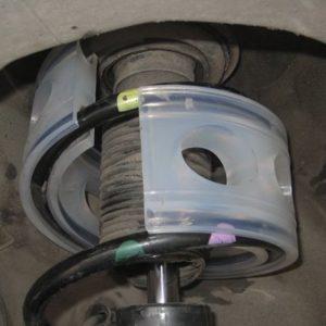 установка автобаферов в пружины